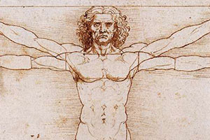 Public Domain picture of a man by Davinci
